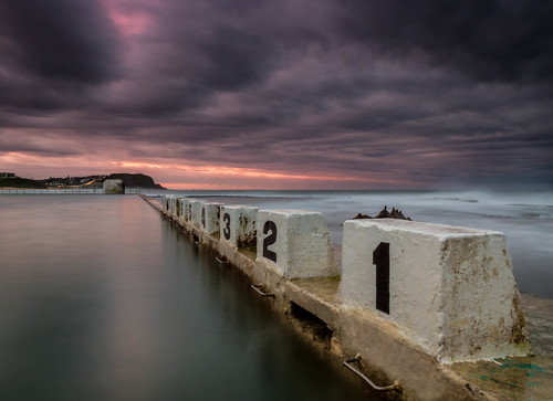 Purple Sunset at Merewether Baths