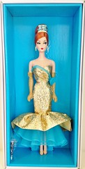 2013 Happy New Year Barbie Doll #X8282 (The Barbie Room) Tags: new holiday club vintage happy gold fan doll label year barbie hostess exclusive bfc collector 2013 2010s