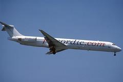 FlyNordic MD-83 SE-RDS BCN 16/07/2005 (jordi757) Tags: barcelona nikon airplanes bcn mc kodachrome douglas f90x kodachrome64 avions elprat md83 flynordic lebl serds
