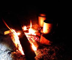 Dinner at Hirayu Camp (derrottenberger) Tags: wood camping japan dinner outdoors fire hiking gear lg backpacking 日本 g3 titanium takayama 岐阜 gifu 高山 snowpeak hirayu 岐阜県 平湯 lgg3 平湯キャンプ場