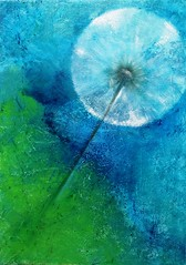 make a wish (Birgit.Riemann) Tags: art painting paint acrylic modernart kunst canvas grün blau acryl dandilion öl malerei makeawish pusteblume 2015 leinwand gemälde oel ölbild acrylbild wünschdirwas galarie acrylart oelbild birgitriemann