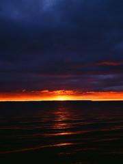 The day begins (pabs35) Tags: 120 mamiya film sunrise mediumformat paradise fuji michigan velvia fujifilm whitefishbay upperpeninsula fujichrome lakesuperior 1000s velvia50 rvp50 m645