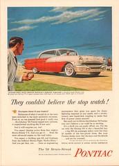 1956 Pontiac Strato-Streak Advertisement Time Magazine May 7 1956 (SenseiAlan) Tags: magazine time may 7 advertisement pontiac 1956 stratostreak