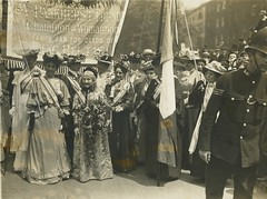 Emmeline Pankhurst and Elizabeth Wolstenholme Elmy, 1908.