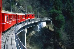 R12614.  Arosa line. (Ron Fisher) Tags: railroad train schweiz switzerland europe suisse transport rail railway chur publictransport narrowgauge graubünden rhätischebahn schmalspurbahn ge44ii metregauge voieetroite