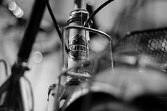 Vintage Bicycle Lejeune_black and white (Nikan Likan) Tags: paris bicycle vintage 50mm asahi pentax lejeune f17