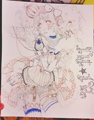 1% From Finished Line Art (RiRi the weenie) Tags: original cute art illustration artwork drawing manga lineart