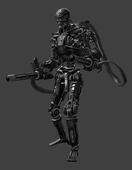 T600 Dual Miniguns (TacoNBanana Roleplay) Tags: terminator t600 miniguns