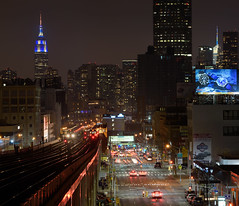 Night Transit (Bruce Budris) Tags: nyc newyorkcity train subway rail queens 7train