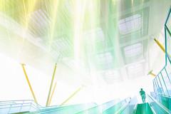 #律動(Explore) (David C W Wang) Tags: people flickr doubleexposure taiwan explore kaohsiung greenlight exit 台灣 高雄 人 出口 綠光 律動 中央公園站 centralparkstation 疊圖 canon18135mm 發掘 canon550d