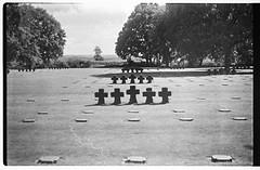 German Cemetery (FdB-Argentique) Tags: bw army us war cemetary trix bunker ww2 normandie zenit bnw argentique trix400 argentic zenite