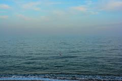 Lost Horizon....(Well Almost) (williamrandle) Tags: uk blue autumn sea england water nikon horizon devon shore latesummer torcross 2014 southhams buoyant d7100 sigma1835f18art sliponsands