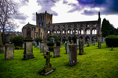 Of Yesterdays Yesterdays (Brian Travelling) Tags: abbey ruin national scotland historic historical stone worship graveyard graves