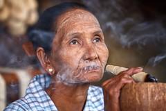 Worlds beyond ordinary ~ Myanmar (~mimo~) Tags: documentary people photography color nicotine smoke cigar portrait woman burma myanmar