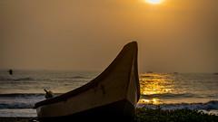 Boat at Sunrise , Pondicherry (Abhinethra Routhu) Tags: nikon nikon3300 travel travellingindia pondicherry landscape landscapes sunrise boat goldenhour
