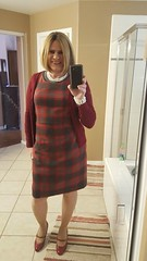NIce to be back posting, hope everyone had a great New Year (krislagreen) Tags: tg tgirl transgender transvestite cd crossdress sheath jumper hose patenthighheels maryjanes blond femme feminized feminization feminine