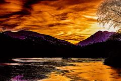Frozen Stiff (Brian Travelling) Tags: sunset sunsetsandsilhouettes sundown sunlight glencoe glencoelochan highlands highland westhighlands scotland scenery scenic water lochan pentaxkr pentax pentaxdal wow