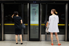 The Reckoning (Douguerreotype) Tags: uk gb britain british england london underground tube metro subway people two 2 candid city urban transport