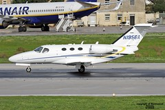 N1956A LMML 08-12-2016 (Burmarrad) Tags: airline private aircraft cessna 510 citation mustang registration n1956a cn 5100305 lmml 08122016