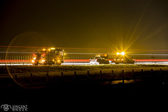 Breakdown service (Moneyfish.) Tags: exposure rood tgooi yellow impressive outside orange shutterspeed dutch wegenwacht breakdown service donker dark gooi huizen holland lightart lights canon colours colourfull colourpallet highway help snelweg pech