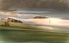 Im Streiflicht der aufgehenden Sonne... (thorvonasgard) Tags: cyberlink photodirector landschaft landscape streiflicht sidelight nebel sonnenaufgang surise