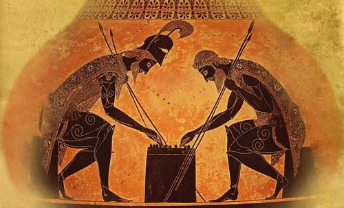 "Petteia - Ludus Latrunculorum  / Iconografía de las civilizaciones helenolatinas • <a style=""font-size:0.8em;"" href=""http://www.flickr.com/photos/30735181@N00/31678498794/"" target=""_blank"">View on Flickr</a>"