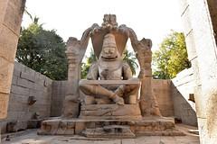 Lakshmi Narasimha Temple, Hampi {EXPLORED} (rajnishjaiswal) Tags: unescoworldheritagesite lakshminarasimha hampi statue god goddess hindu architecture lord temple