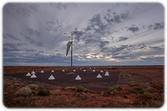 Aerodrome (Craig Jewell Photography) Tags: aerodrome australia desert dusk outback prominenthill red southaustralia sunset iso800 f56 ¹⁄₁₂₅sec canoneos5dmarkii ef1635mmf28liiusm copyright2016craigjewell 20161213205417mg9689and2moretif orange clouds cloudy twilight martian moonscape gravel inhospitable arid barren stark sky open landscape nature geography geographical horizon greatvictoriadesert wilderness