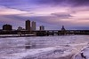 CR Time Lapse (revjimbo) Tags: timelapse winter ice clouds cold downtown river frozen