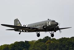 Skytrain (Bernie Condon) Tags: douglas dakota sktrain dc3 transport cargo airliner military vintage preserved dunsfold wingswheels airshow surrey uk aviation 2016