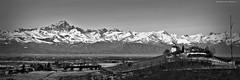 langhe e Alpi (sanino fabrizio) Tags: langhe alpi monviso catena montuosa collina paesaggio landscape bianco e nero vignetta hdr unesco italia piemonte cuneo dogliani canon 550d panorama panoramica