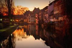 Evening light (Strasbourg, France) (armxesde) Tags: pentax ricoh k3 frankreich france strasbourg strasburg petitefrance reflection spiegelung abend evening alsace elsass