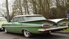 Winter Green (mitchell_dawn) Tags: chevrolet chevy 1950s 1959 belair classiccar hotrod buttyrun buttyrunners longitchdiner longitchington fifties 50s