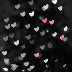 pink hearts (ladybugdiscovery) Tags: heart hearts bokeh light hbw happy wednesday happybokehwednesday