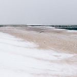 Snowstorm on the beach thumbnail