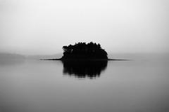 The Island (Kozmic Hammer) Tags: bw contrast fog island landscape evening nikkor dslr digitalslr nikon d7100 nikond7100 lens nikonf fmount 24megapixels 241megapixels 24 241 nikonbody digitalslrcamera dslrcamera cmos cropsensor crop 241mp 24mp nikondx dx