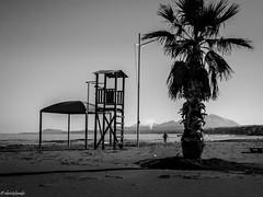 tilt right (geo_christoforakis) Tags: rethymno rethimno crete greece streetphoto street monochrome blackandwhite bw outdoors outdoor nature sea shore abandoned sandy beach canon canonpowershotsx60hs canonflickraward