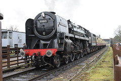 70013 @ Quorn and Woodhouse (ianjpoole) Tags: british railways britannia class 7p 70013 oliver cromwell great central railway winter steam gala