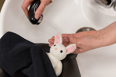 At the Hair Salon (Arielle.Nadel) Tags: miarabbit cute hairsalon toyphotography ayearwithmiarabbit