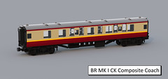 BR MK I CK Composite Coach (ScotNick1) Tags: british railways lego train carriage corridor coach steam engine