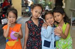 children (the foreign photographer - ฝรั่งถ่) Tags: jan32015nikon four children girls khlong lat phrao portraits bangkhen bangkok thailand nikon d3200