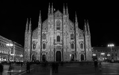 A darkened Duomo. (thetomgrey) Tags: milan italy canon 60d sigma 1835mm travelling milano duomo di church cathedral long exposure people crowds movement city