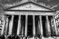 Pantheon (Myk Jordan) Tags: europe italy rome roma italia travel lazio pantheon art architecture monument city cityscape people blackwhite black blackandwhite abstract streetart
