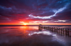 Outer Banks Duck North Carolina Sunset Seascape Photography OBX (Dave Allen Photography) Tags: obx outerbanks duck nc northcarolina seascape sunset dock coastal seashore eastcoast water seaside boardwalk clouds pier nature kittyhawk landscape ducknc albemarle