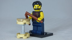 Brick Yourself Custom Lego Figure Happy Drummer