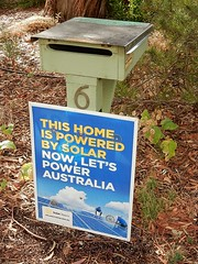 Promoting Solar Power (mikecogh) Tags: willunga solarpower 6 sign letterbox mailbox encouragement motivation promotion example
