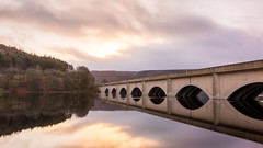 Reflection Perfection (Warwick Tams) Tags: ladybower reservoir reflection perfection canon 5d mark iii water colour color sunrise glass sky bridge architecture arch forest peak district england