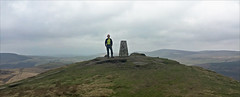 10 of 52 trig points (Ron Layters) Tags: 2017 ronlayters selfportrait 52trigpoints shutlingsloe trigpoint overcast greyday summit hill summittop landscape vista hills green moorland moor shiningtorinthedistance pillar tp5970 fbs27602 peakdistrict peakdistrictnationalpark macclesfield cheshire england unitedkingdom 52weeks 52 phonecamera iphone apple appleiphone6 selftimer tripod 10secondtimer weekten week10 10 wildboarclough highestpositioninexplore105onmondaymarch132017 explore interesting 2k 5k 10k