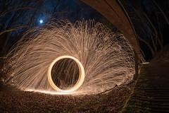 BEUGIN (Thomas Domachowski) Tags: beugin pas de calais fisheye 8mm samyang d750 etincelle steel wool paille fer brulure botte nuit night parcours lune merde