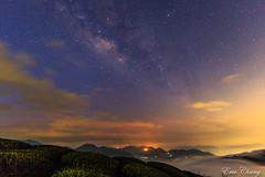 Milk Way and clouds (Liao Joseph) Tags: milk galaxy way clouds lights no people mountains tea taiwan sea sun